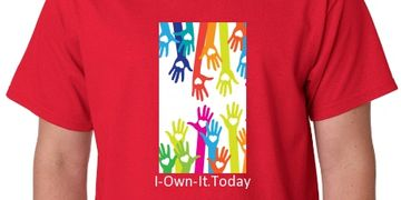 I-Own-It.Today T-shirt Helping Hands Helping Your Community
