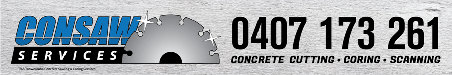 CONSAW SERVICES/TOOWOOMBA CONCRETE SAWING & CORING SERVICES
