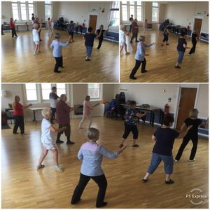 class flowing through their Tai Chi