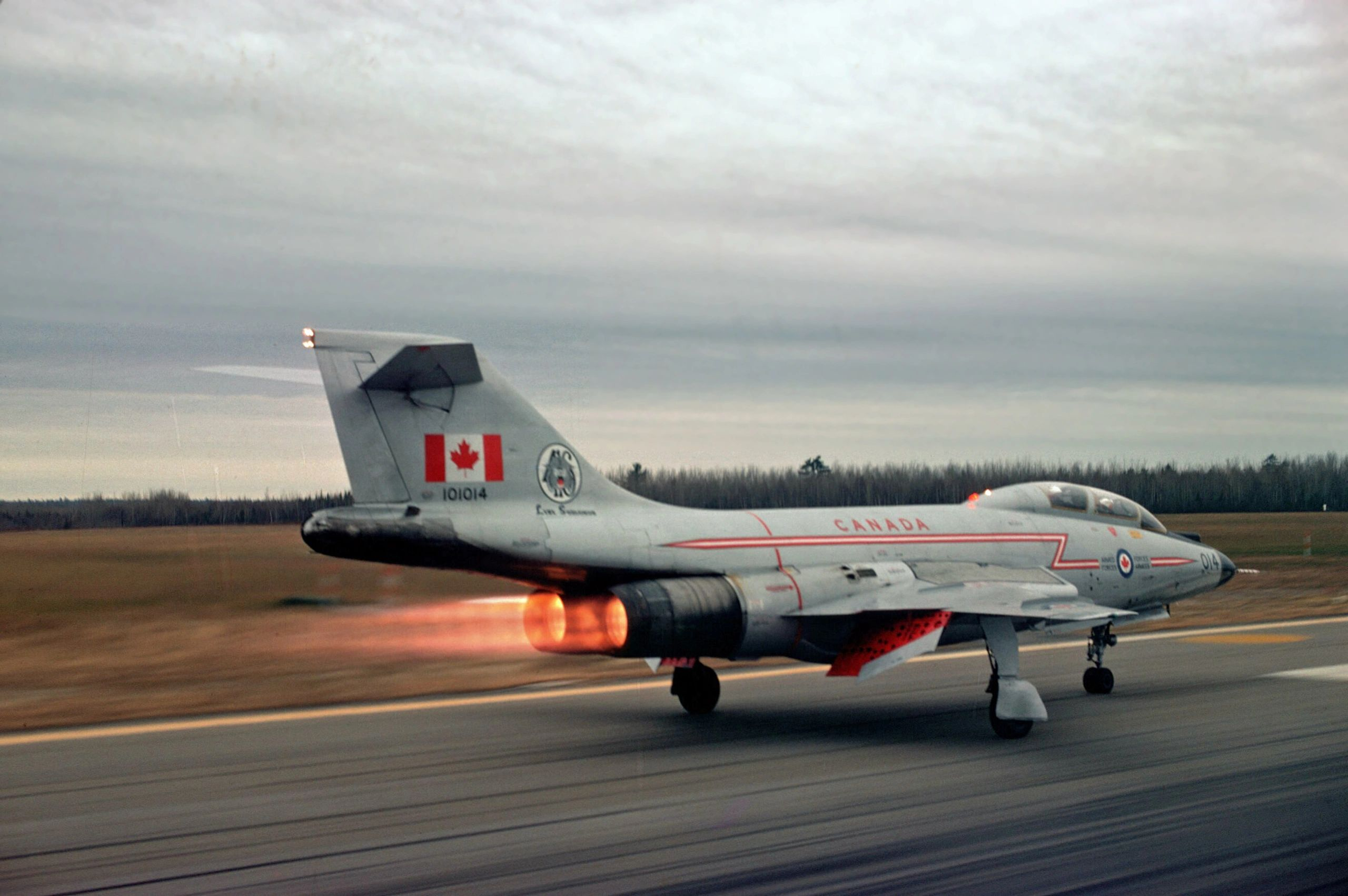 CF-101 Voodoo 101014 on takeoff