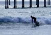 Surfing by the Pier-Susan Steven