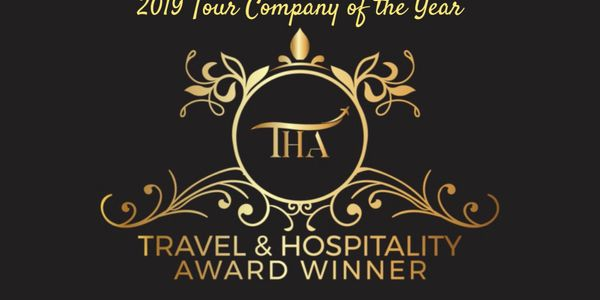 Awarded Travel and Hospitality - 2019 Tour Company of the Year