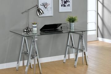 STATHAM GLASS TOP ADJUSTABLE WRITING DESK