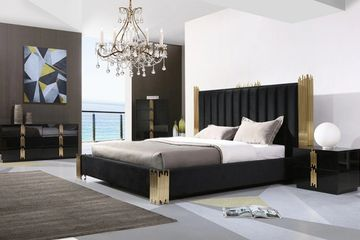 Modern Black & Gold Bed