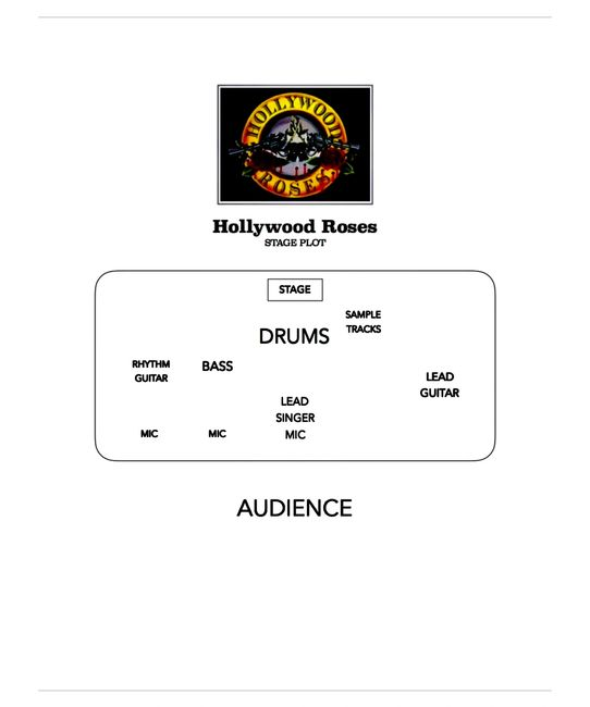 HOLLYWOOD ROSES STAGE PLOT