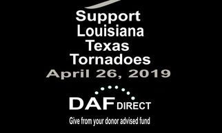 Support Louisiana Texas Tornadoes Disaster Relief! Charity Organization 501 c3