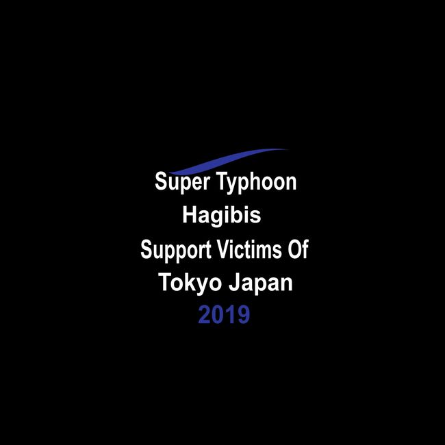 Super Typhoon Hagibis. Support Victims Of Tokyo Japan.