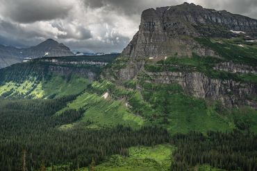 Glacier National Park. Going to the Sun Road. Mountains.