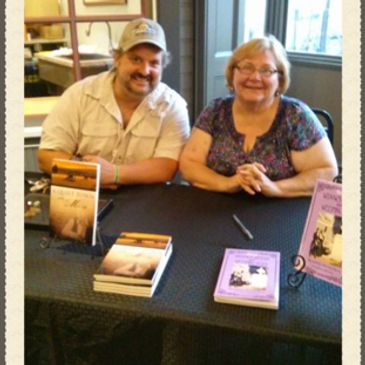 Gettysburg Publishing founder and owner, Kevin Drake and author Bernadette Loeffel Atkins.