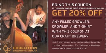 Take advantage of this..Oct 6..Ebullition Brewery