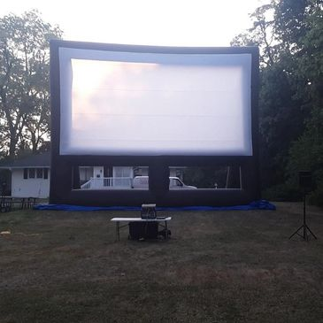 Large screen movie