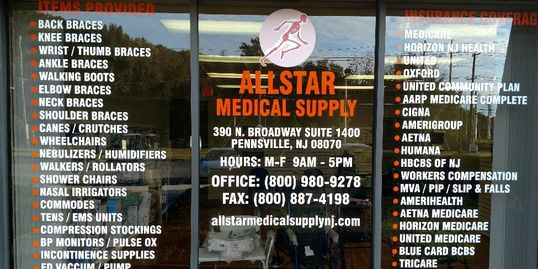 ALLSTAR MEDICAL SUPPLY, NJ.