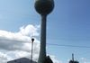 "Beausejour - Green Bubble Water Tower - Aston Ave between 1st & 2nd St GPS: 50°03'38.0""N 96°31'10.2""W"