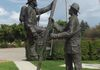 "Saskatoon - Fire Fighter Memorial - 3309 Taylor St at Firehall 6 GPS: 52°06'17.4""N 106°36'06.4""W"