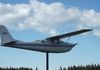 Candle Lake – Airplane on a Pedestal - Saskell Ave & Oak Pl in back on Candle Lake Airport
