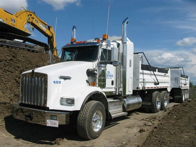 grande prairie gravel truck box truck loader snow removal pilot car lease build haul dirt trucking