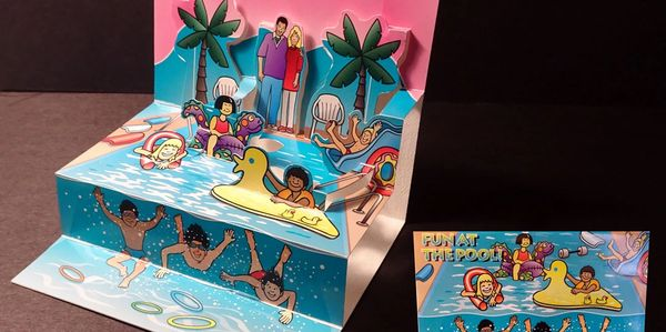 A Swim School Pop-Up Card
