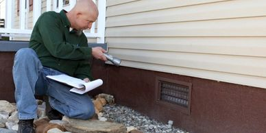 exterior inspection, outside inspection, property inspection, house inspector, home inspector