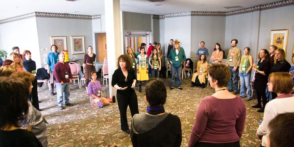 Siobhan Quinn teaches a vocal master class at the Northeast Regional Folk Alliance in upstate New Yo