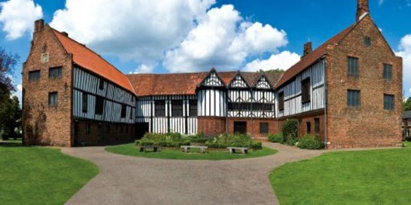 A view of Gainsborough Old Hall on a summer day