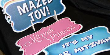 Bar Mitzvah, Bat Mitzvah, Mazel Tov, Photo Booth, Props