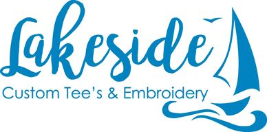 Lakeside Custom Tee's & Embroidery.  Local custom work for tee shirt, tanks, bags, home goods