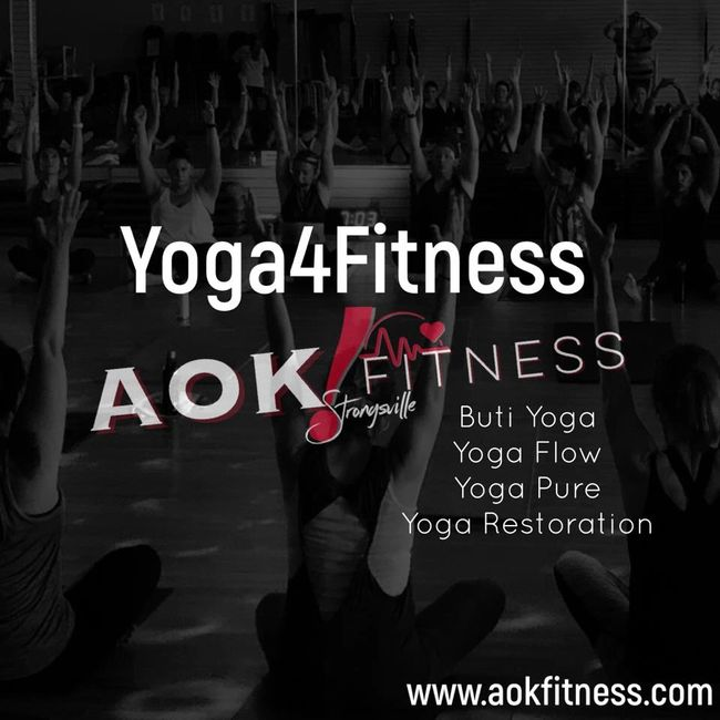 Yoga4fitness at AOK! is done in our beautifully designed Yoga Lounge! Practice at AOK!