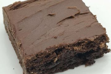 Triple Chocolate Fudge Brownie, made with 3 different types of chocolate chips