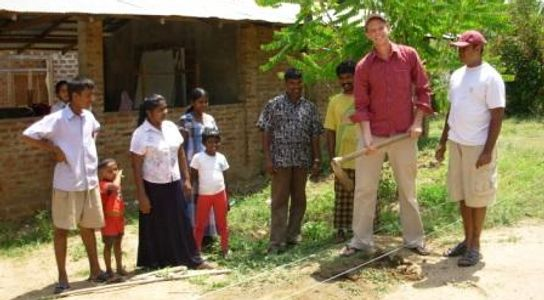 Breaking ground on a new orphanage