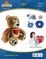 Anitbacterial Heart Shaped Cough Pillows, Plush Bears, Healthcare Bears, Winter/Holiday Bears
