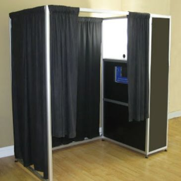 enclosed photo booth, handicap accessible, fits large groups. High resolution photo strips. weddings, parties, corporate events, holiday parties!