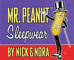 Mr. Peanut Sleepwear by Nick & Nora