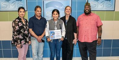 Patriot's Pen 1st place winner, Sukhmani Nanda