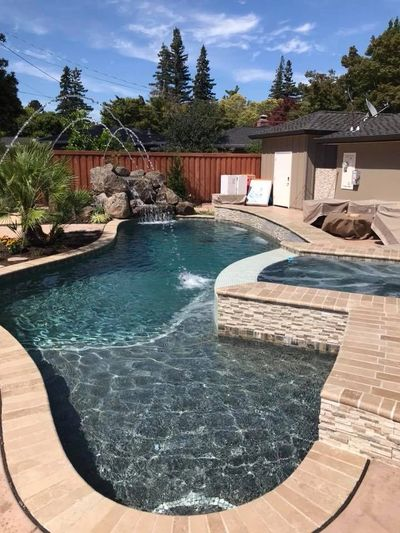 custom pool designed and built by Professional Pools