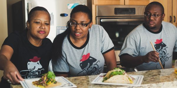 Fat Sisters in Atlanta. A team of talented Chefs . Tamika Hurley-Carr, Genia Williams, Raphel Grant