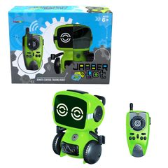 Jabberbot rc robot can move, talk as walkie talkie, fart & spy. remote control electronic robot toy