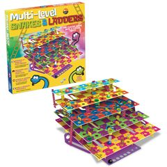 Multi-Level Snakes & Ladders features five levels, 3D Chutes & Ladders, promotes visual perception