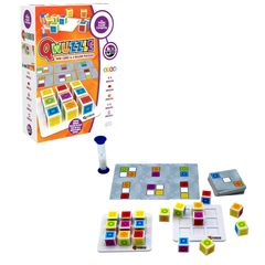 Qwuzzle features cubes, basic/advanced cards & grids, promotes speed of thought & speed of thought