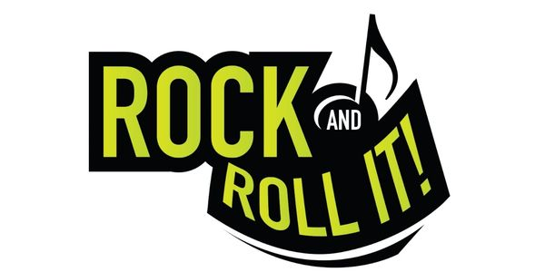 "Mukikim's brand logo ""Rock And Roll It"" which includes portable electronic pianos and drums pad"