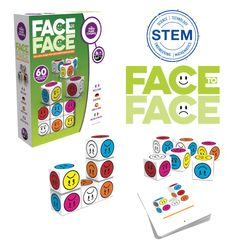 Face To Face features colored face cubes & 60 multi-level challenge cards, promotes problem solving