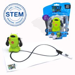Tracerbot Green Inductive STEM science electronic mini robot follow line you draw Creation toy robot