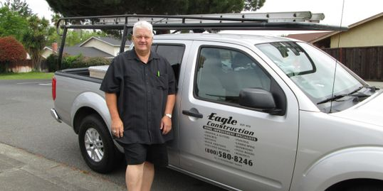Photo of Mark Kolodziej, the owner of Eagle Construction in Vallejo, CA