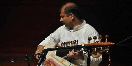Gaurang performing in a concert at Wake Forest University