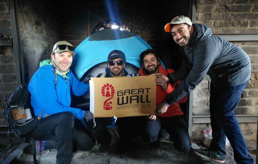 Great Wall camping at Huanghuacheng