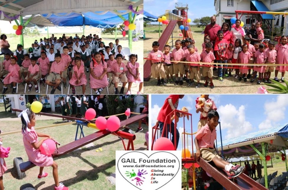 "{""blocks"":[{""key"":""atttj"",""text"":""2018 BOHEMIA PRIMARY SCHOOL in Guyana, South America received a 3 seater swing, double sea-saw, double slide and toys for 80 children.  When the children started using the outdoor play equipment, attendance and grade improved at the school.  Also, the children did not want to leave school to go home.  The happiness felt by these children improved their academic performance."",""type"":""unstyled"",""depth"":0,""inlineStyleRanges"":[{""offset"":0,""length"":52,""style"":""BOLD""},{""offset"":0,""length"":52,""style"":""UNDERLINE""}],""entityRanges"":[],""data"":{}}],""entityMap"":{}}"