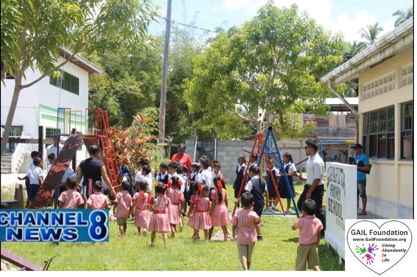 "{""blocks"":[{""key"":""227oc"",""text"":""2019 SIPARUTA PRIMARY SCHOOL in Guyana,  We fell in love with the people in this rural town and gifted them with a second playground at the elementary school (primary school) consisting of a 3 seater swing, double sea-saw, and double slide.  WATCH VIDEO from local Channel 8 News"",""type"":""unstyled"",""depth"":0,""inlineStyleRanges"":[{""offset"":0,""length"":38,""style"":""UNDERLINE""},{""offset"":0,""length"":38,""style"":""BOLD""}],""entityRanges"":[{""offset"":242,""length"":37,""key"":0}],""data"":{}}],""entityMap"":{""0"":{""type"":""LINK"",""mutability"":""MUTABLE"",""data"":{""target"":""_blank"",""url"":""https://youtu.be/e080Coa_8qY""}}}}"