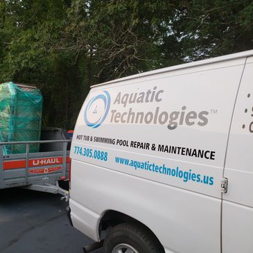 Aquatic technologies Inc. Hot tub delivery and moving services