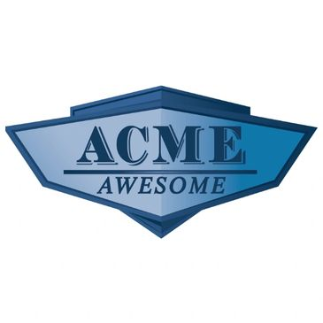 Acme Car Shipping logo with text ACME AWESOME