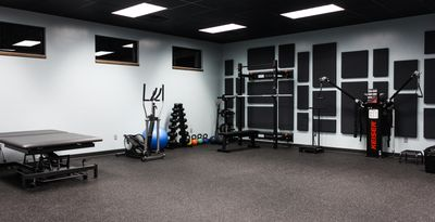 The gym at Movement Clinic.