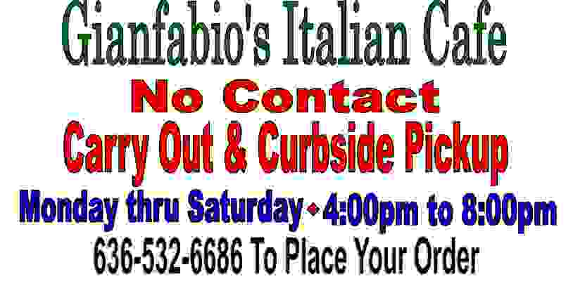Italian restaurant in chesterfield offering contactless carry out and curbside pickup.